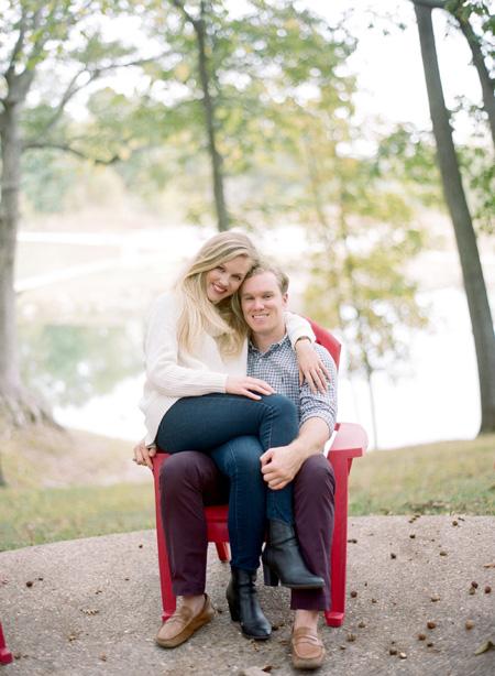 lakeside engagement photo